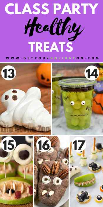 Halloween Treats for a Class Party | Healthy Treats for a Class Party #health #snacks #momlife #schoolparty