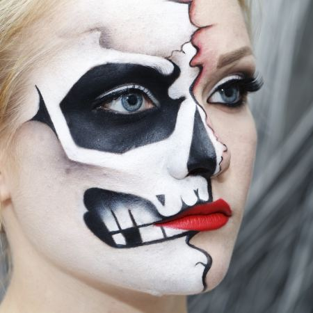 Share using these Halloween Hashtags for Makeup! It doesn't matter if you're wanting to show off skelton makeup, three-deminsional, skull art, Day of the dead, holiday favorites, pretend play, or horror movie masterpieces. I hope you will find many ideas that will help show off your creativity expression! #theater #diymakeup #diyhalloween #facepaint