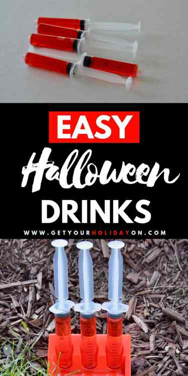 Start your party off right with theseeasy Halloween drinks! The best part about thesenonalcoholic Halloween drinks is that kid or adults will enjoy them! Get your holiday on with these blood like shot drinks! #halloween #punch #water #momlife