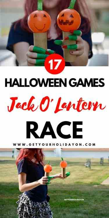 5 Minute Fall Party Games Jack o' Lantern Race #minutetowinit #momlife #diycrafts #diyfall