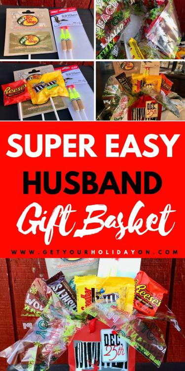 super easy Fisherman Gift Basket! The perfect hubby gift basket #mengifts #diy #diygiftbasket #giftbasket