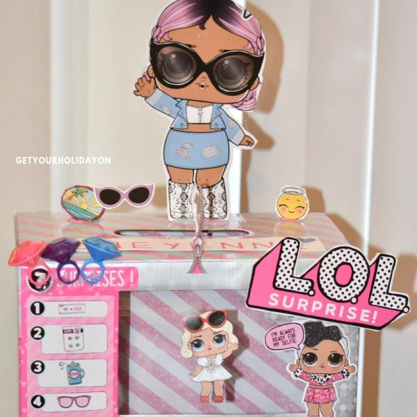 LOL doll Valentine Box | lol doll box diy | lol doll box frame #lol #loldoll #momlife #toys