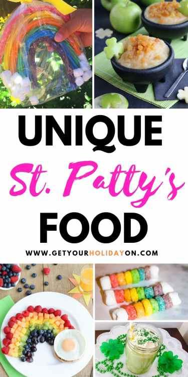 St. Patrick's Day Kids Themed Food Ideas #food #treats #desserts #momlife