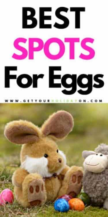 Best hiding spots for Easter eggs inside and outside! Clever ideas that will create a challenging egg hunt! #easterbunny #easter #jellybean #eggs