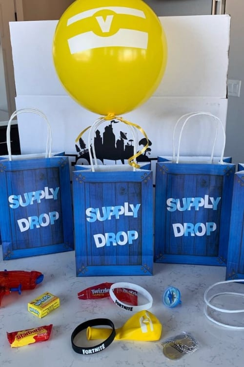 Supply Dropbox Party Favors for Fortnite Lovers! #fortnite #birthday #partyplanning #eastereggfillers