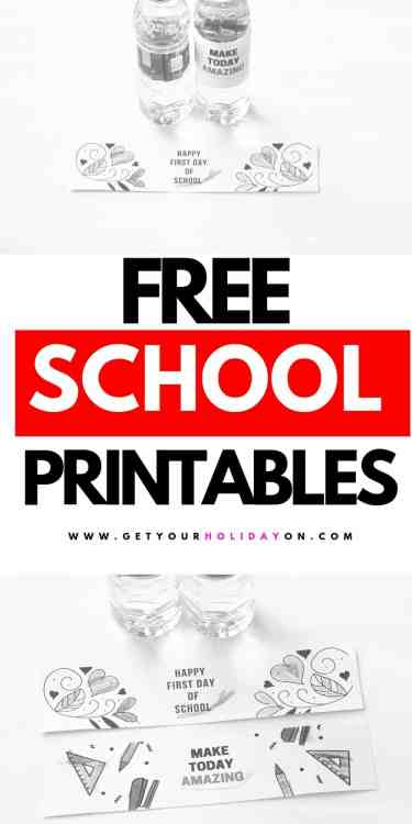 Start your morning routine off with a special water bottle treat from mommy. You could also choose to include these school printables in the first day of school lunch box or a special first week of school surprise. #school #freeprintables #parenthood #momlife