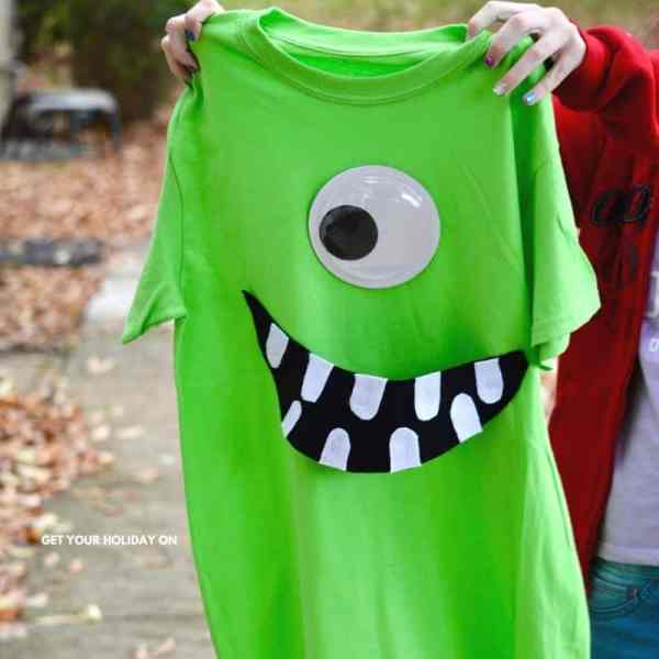 Create a DIY Disney shirt of Monsters inc characters Mike and Sully.
