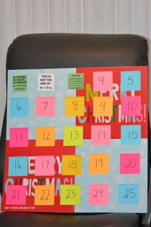 DIY Teen Advent Calendar craft project idea