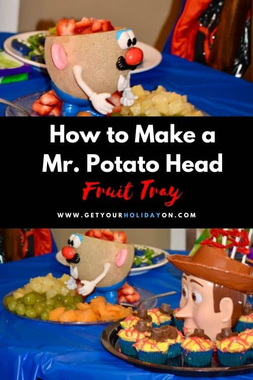 Buzz and Woddy fans will love this healthy birthday party decoration idea for kids!