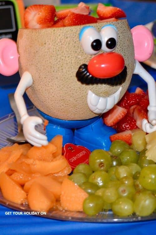 mr potato head themed food ideas #mrpotatohead #toystory