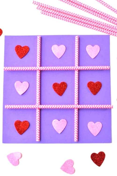 Easy tic tac toe for valentines day