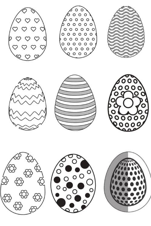 Free Easter egg Printable Templates for April! #kids #moms #diys #easter