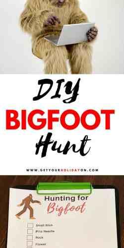 DIY Bigfoot Hunt for outdoor activities with kids. #outdoor #camping #freeprintable #kids