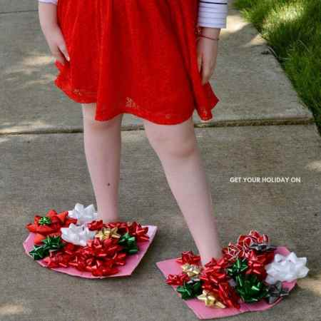gift bows turned into easy craft ideas.