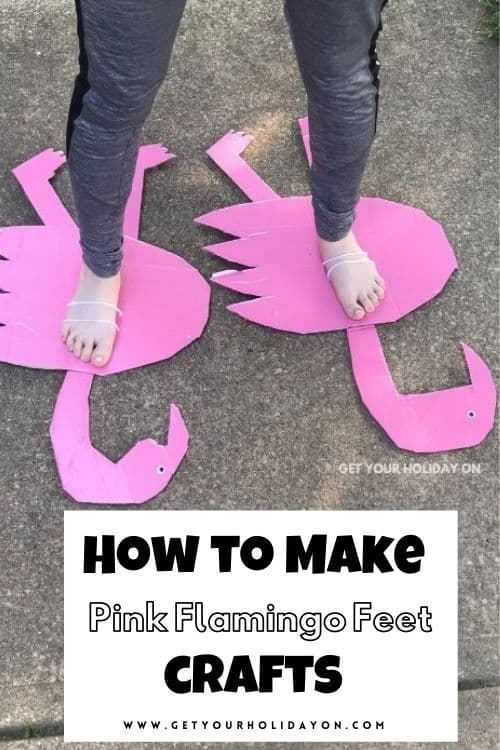 Flamingo feet craft idea for kids or adults! #flamingos