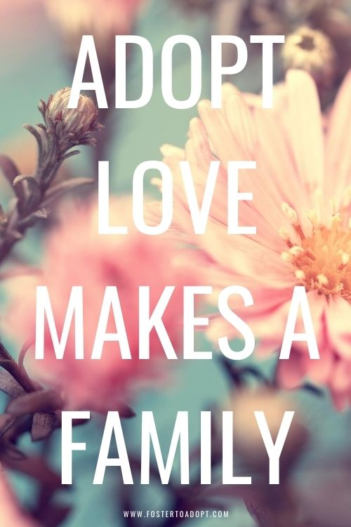 Adopt love makes a family quote