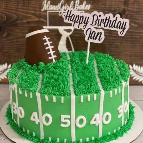football cake design