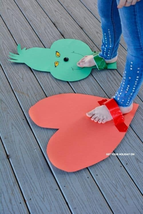 Grinch feet craft that is hilarious crafted for kids and adults.