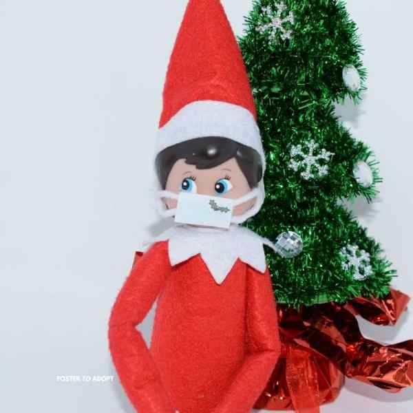 Find a printable free template for a elf on the shelf mask.