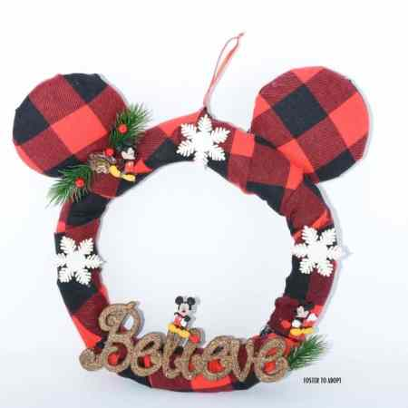 Disney lovers in your family will love this Mickey Mouse wreath that measures 22 inches and can be changed up for the holiday season.