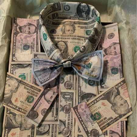 Ideas for dollar bills made a money shirt and better then a card box and fun gift.
