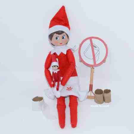 2020 elf on the shelf ideas for kids! Toilet paper shortage with a free printable.