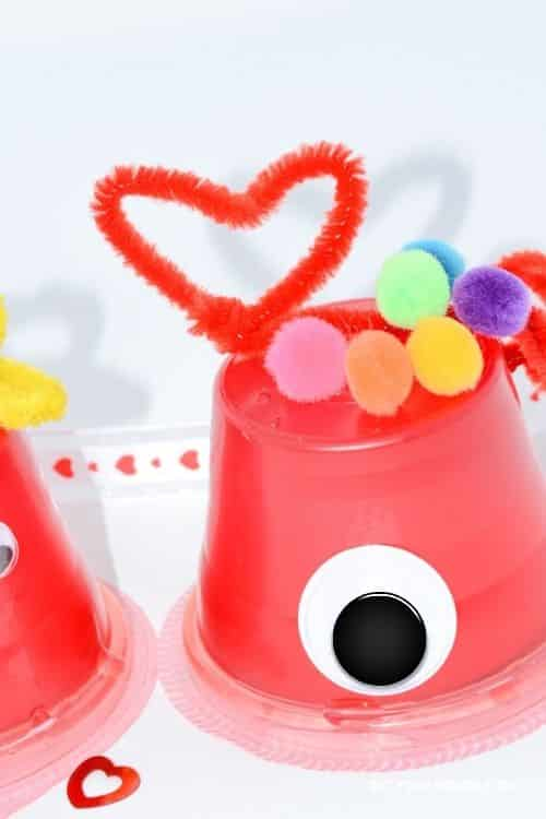 Pipe cleaners work wonders on creating hearts to put on your Valentine's Day Craft Monsters.