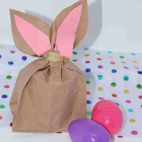 How to Make Easter Bunny Bags a fun Easter crafts for kids or adults.