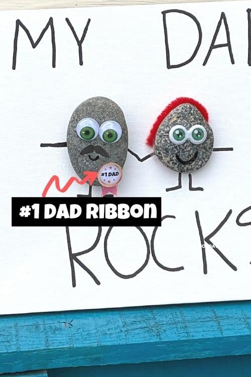 The number one dad ribbon free printable for the dad rock.