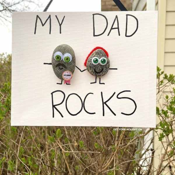 fathers day gift ideas from kids that is the best dad rocks craft ever!