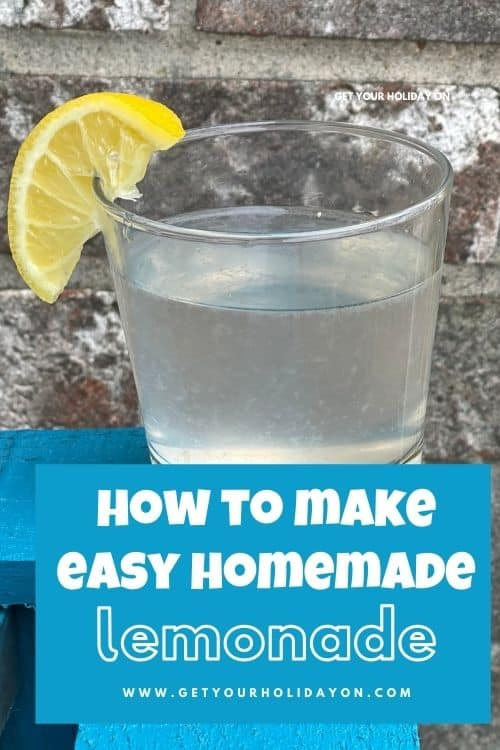 easy homemade lemonade that you can also make strawberry lemonade too.