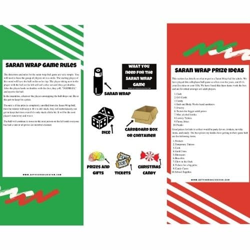 Free Saran Wrap Ball Game Rules Printable
