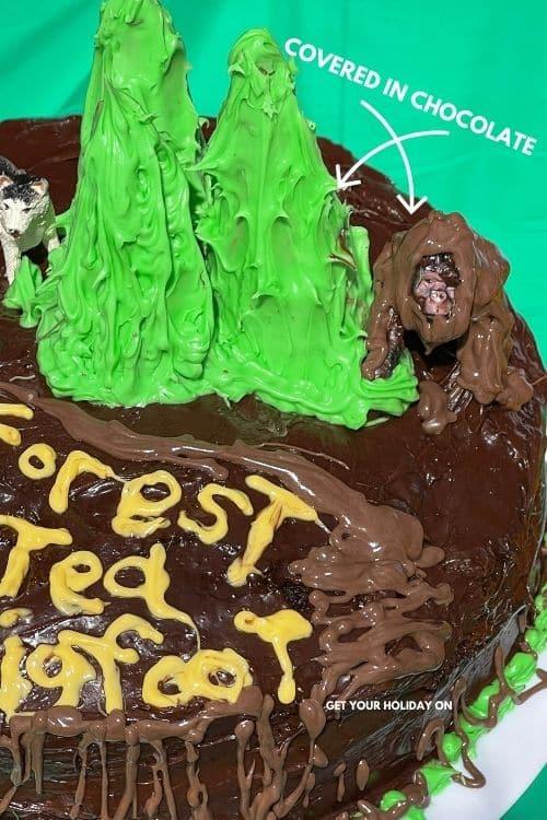 Covered ice cream cones and gorilla in chocolate.