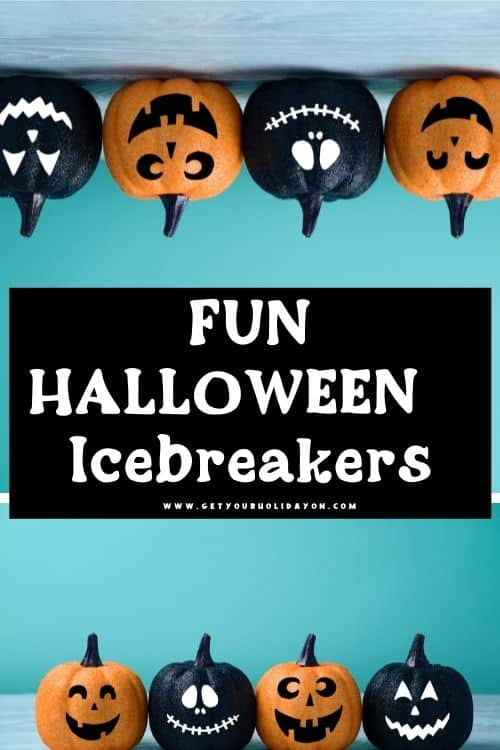 fun halloween icebreakers to use with the Halloween guess who game printable.