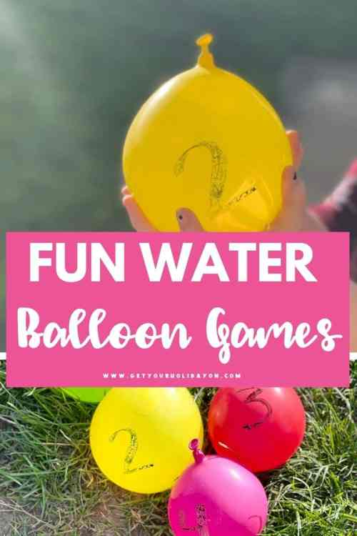 Get ready to play fun water balloon games this summer.