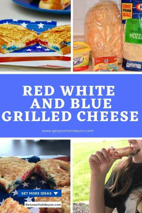 red white and blue grilled cheese the best at home
