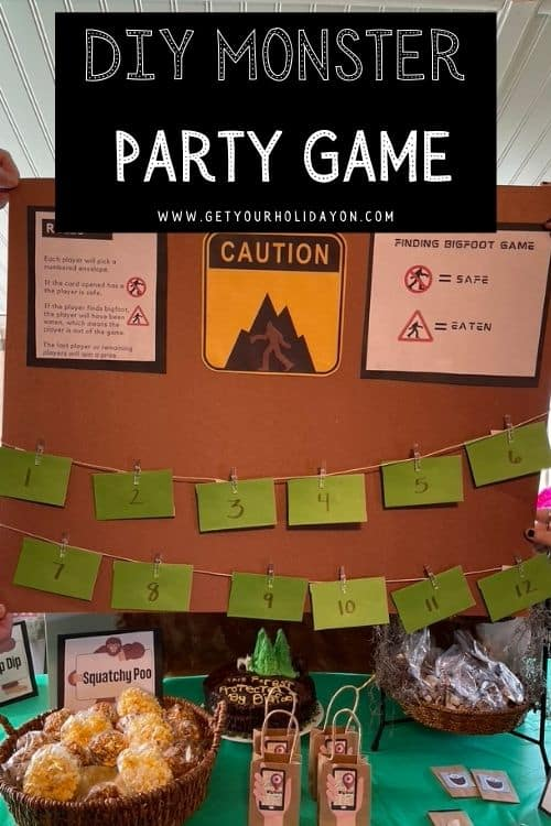 Stay safe or get eaten alive with this DIY monster party game.