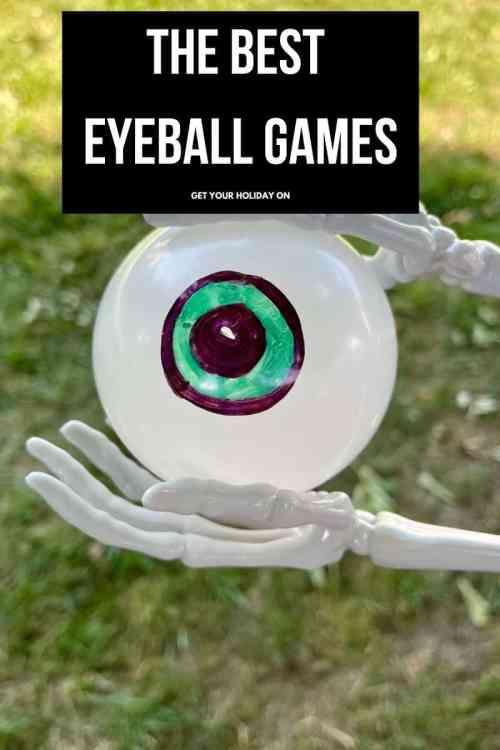 Play the best Eyeball games for Halloween using plastic eyeballs.