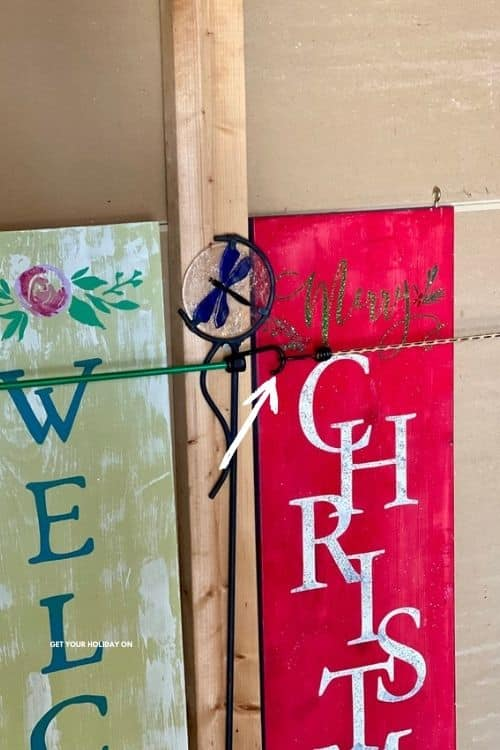 Porch Decoration Storage Hack for Christmas decorations hacks