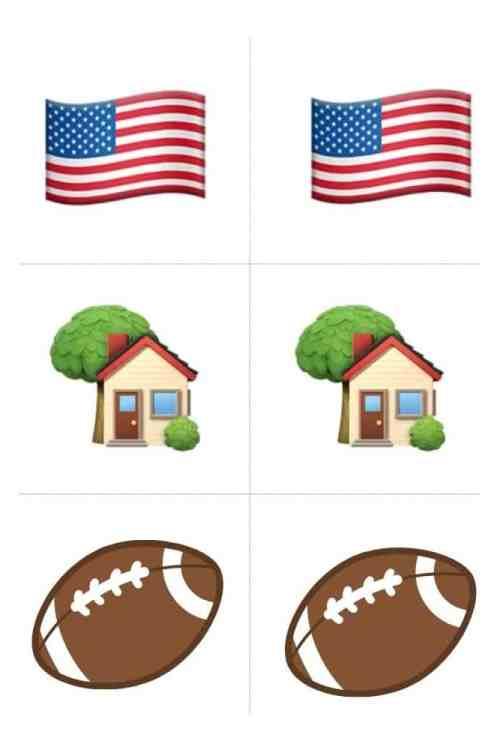 Emoji thanksgiving game memory game pieces.