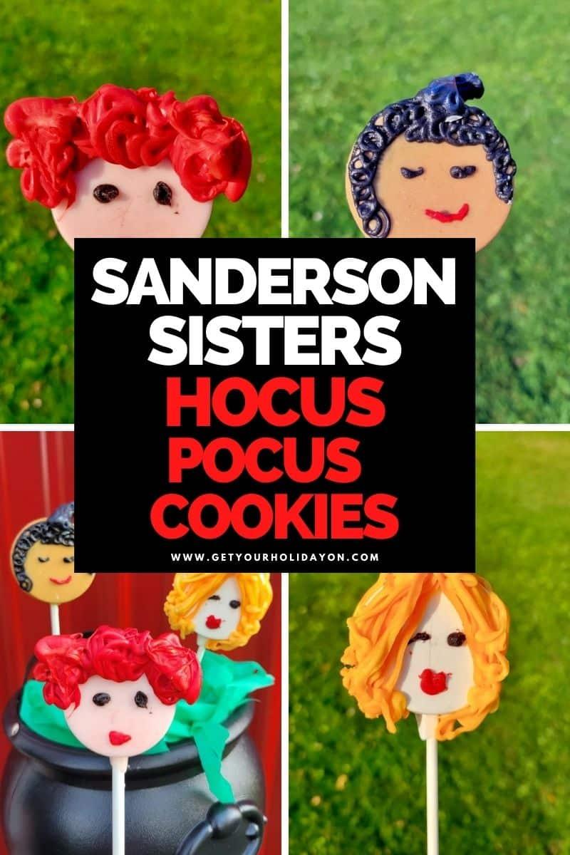 Sanderson sisters Hocus Pocus cookies