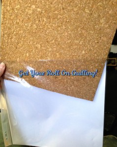 This is a DIY quilling cork board hack tutorial. The board has been slid into the plastic sleeve of a scrapbook refill page for a DIY homemade quilling cork board that you can get as messy as you want and reuse it over and over again or you can pull the cork and put it into a new sleeve for a brand new board. Don't forget to use the other side for more quilling projects.