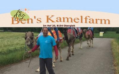 Auch Ben's Kamelfarm freut sich am Sonntag, 30. September auf regen Besuch!