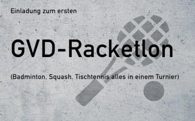 Einladung Event: GVD-Racketlon