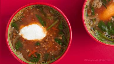 Indiase Linzen soep