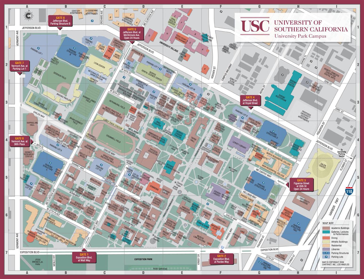 Usc Columbia Campus Map