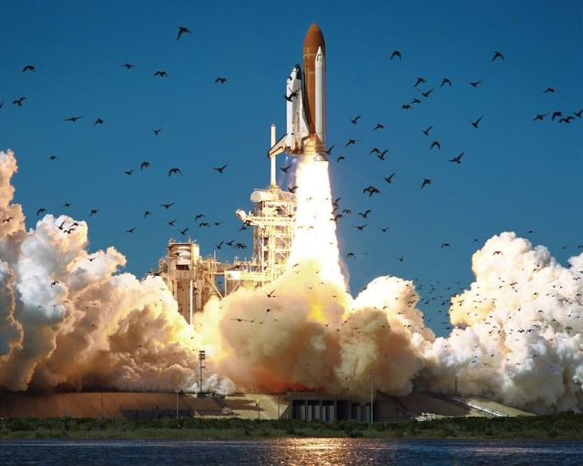 CAPE CANAVERAL, FLA. - Launch of STS-51L, the Space Shuttle Challenger, at 11:38 a.m. EST on January 28, 1986.(photo credit:  NASA)