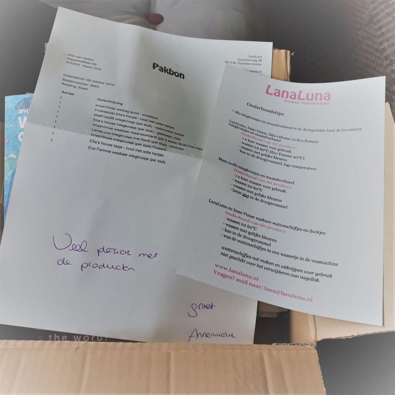 Een persoonlijk berichtje op de pakbon en duidelijke instructies