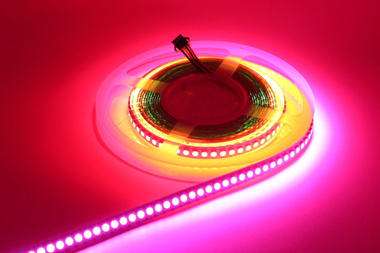 Roze LEDverlichting