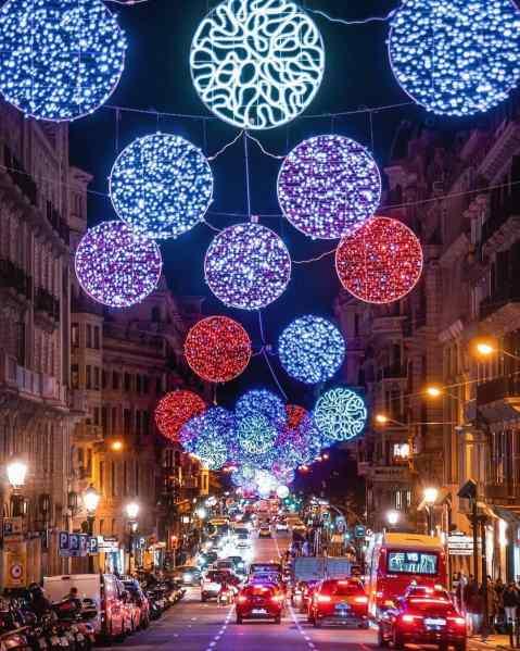 barcelona chrismas lights